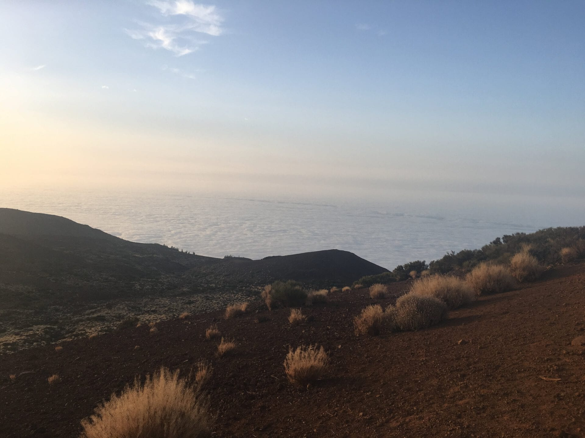 Teide above clouds