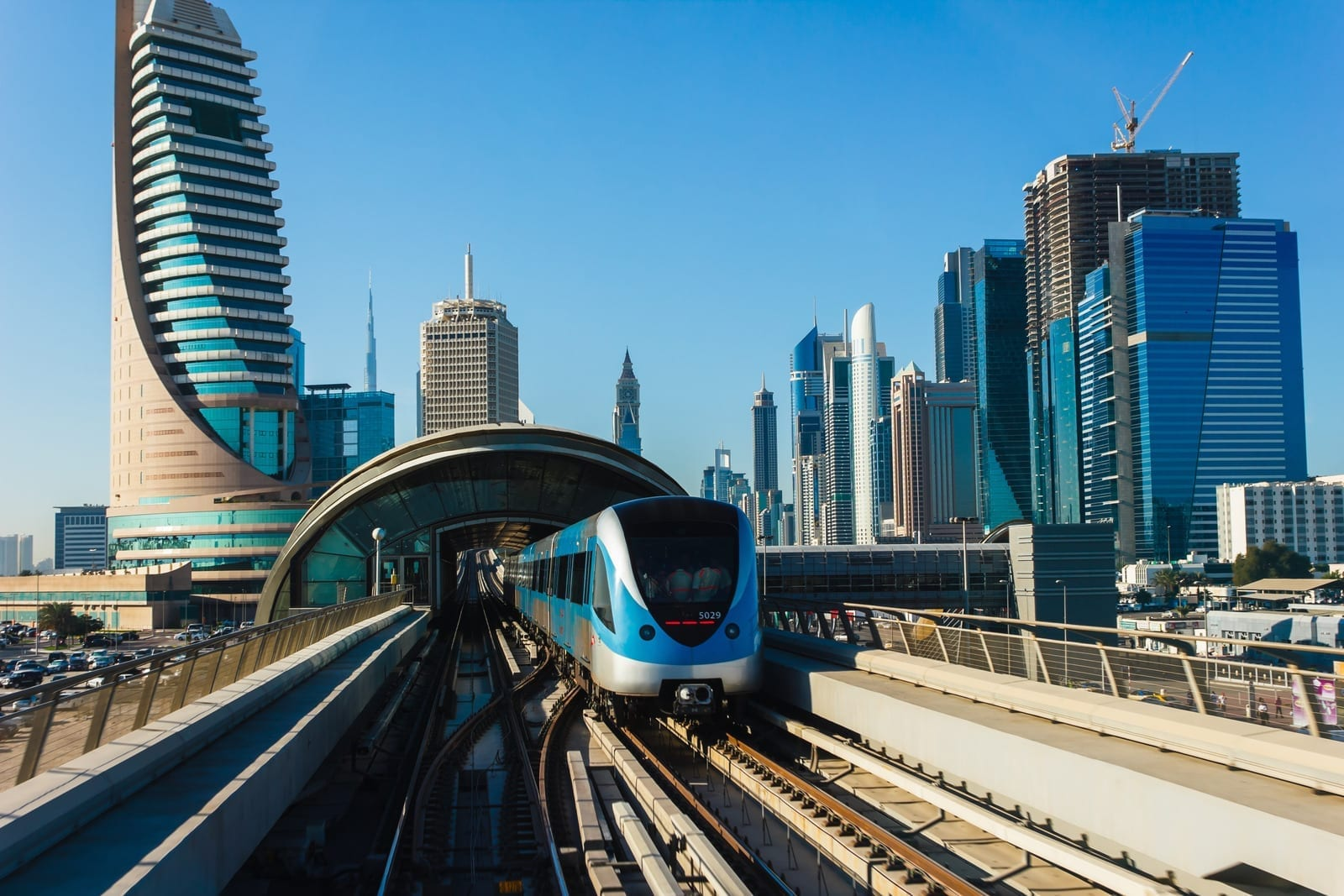 Dubai metro City view
