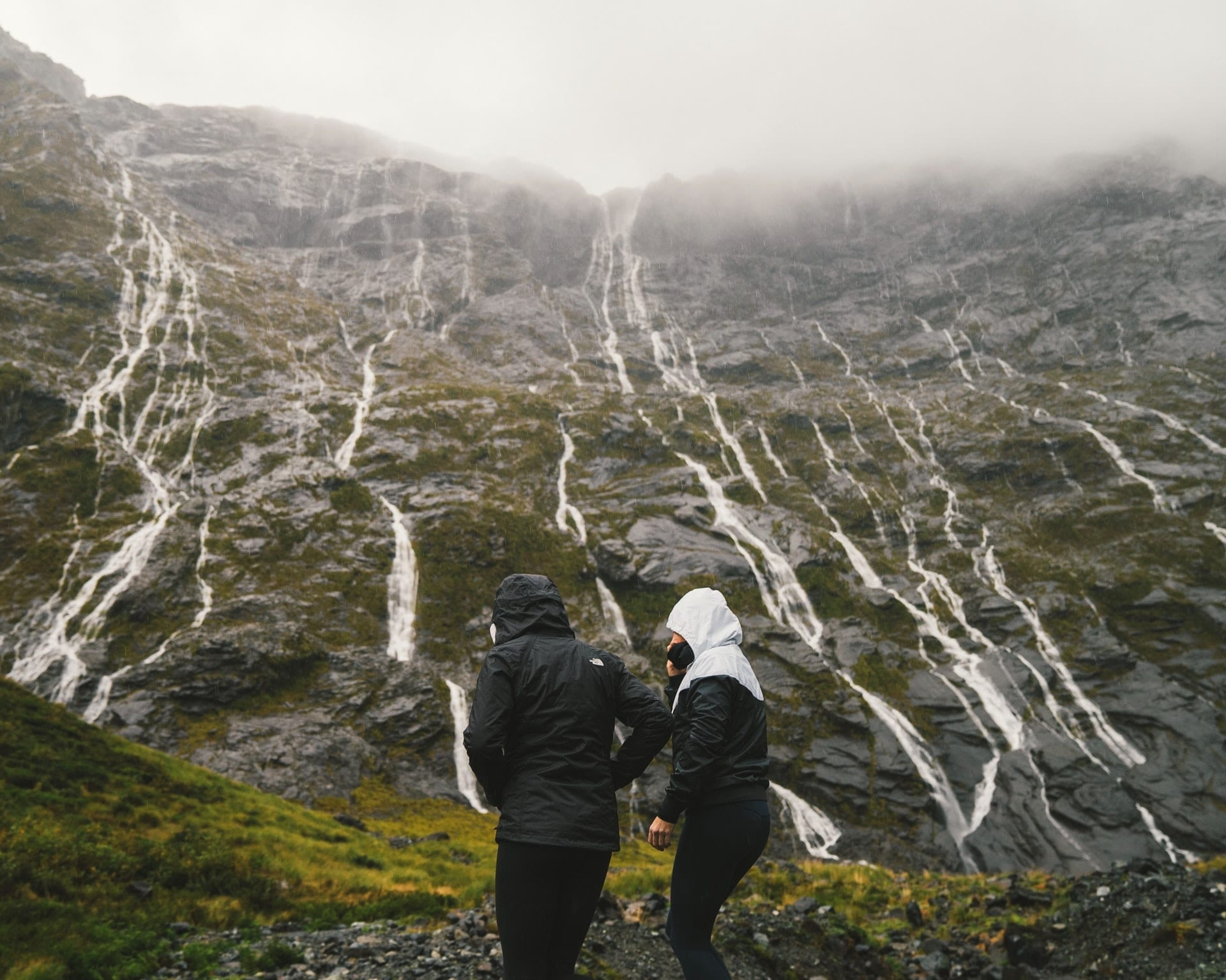 Wet drive to Milford Sound