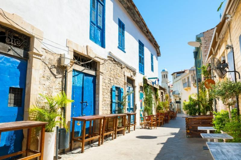 Old street in Limassol, Cyprus